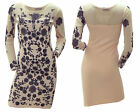 WOMENS NECK AND SHOULDER MESH GLITTERING FLOWER PATTERN PARTY DRESS