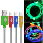 Visible Light USB Sync Data Charging Charger Cable Cord For Galaxy S4 S5 HTC LG