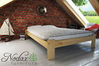 """New Solid Pine 4ft Small Double Bed Frame&Slats """"Aquarius"""" No Headboard"""
