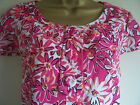 BODEN Pink Floral Linen Shift Dress/Tunic Long or Regular sz 10,12,14,16,18,NEW