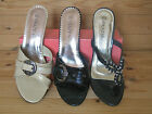 Women's Black/Beige Open Toe Casual/Evening Heel Slip on Sandals NEW Mix sizes