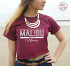 * Malibu Beach California Crop Top Tank Summer Fashion Vogue Tumblr Retro OOTD *