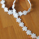 """2 yards: 1/2"""" Little White Flowers Trim Daisy Applique Lace Doll Craft"""