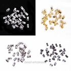 Hot 100pcs Blunt Necklace End Beads Tube Tip Caps For Jewelry Making 5x3.5mm
