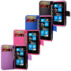PU Leather Wallet Flip Case Cover For Nokia Lumia 800