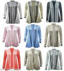New Women Ladies Knitted Plus Size Boyfriend Cardigans waterfall Cardigan jumper