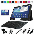 "Folio Leather Case Cover Bluetooth Keyboard for Samsung Galaxy Tab 3 10.1"" P5200"