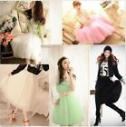 Womens skirts Princess Style 5 layer Voile Tulle Bouffant Puffy Skirt maxi dress
