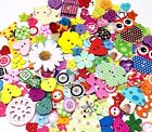 160 Assorted Random Buttons Wooden Resin Cardmaking Mixed Craft Embellishments
