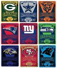 Brand New NFL Teams New Logo Large Soft Fleece Throw Blanket 50' X 60' Marque