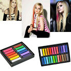 12 24 Colors Non-toxic Temporary DIY Hair Color Chalk Dye Pastels Salon Kit #SFD