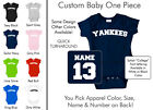 Yankees Baby One Piece - Custom Name and Number, Creeper, Onesie