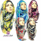 SPLASH Print Pattern Maxi Big Large Scarf Wrap Shawl Hijab Sarong
