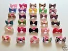 2 x (Pair) Baby Girl Hair Bobble Grosgrain Bow Floral Animal Polka Toddler Girls
