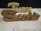 Wooden words letters freestanding personalised names/ gift/ novelty home wedding