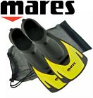 Mares Hermes Swim Snorkel Training Short Fins Flippers + FREE BAG - Yellow