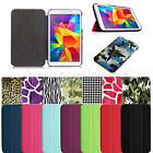 "Folio Slim Smart Shell Case Stand Cover for Samsung Galaxy Tab 4 8.0 8"" SM-T330"