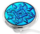 NIB Statements by Amy Kahn Russell Aqua Czech Glass Button Sterling Silver Ring