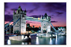 LARGE FRAMED CANVAS WALL ART LONDON CITY TOWER BRIDGE PICTURE STUNNING NEW PRINT