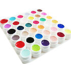 12/30/36 Pure Colors Decor UV Gel Nail Art Tips Cover Extension Manicure Glitter