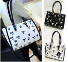Stylish Cats Print Womens Handbags Shoulder Messenger Bags Totes Hobos Satchel