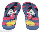 Kids Disney Mickey Mouse Summer Toe Post Flip Flops Sandals Blue / Red Sizes 9-2