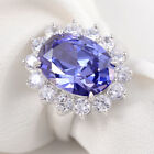2.5Ct White Sapphire Topaz Wedding Engagement 925 Sterling Silver Ring Size 5-10
