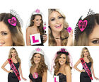 Hen night fancy dress items,cheeky willy boppers,l plates,bride sashes hen party