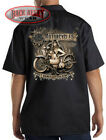 OLD MOTORCYCLES Mechanics Work Shirt Biker ~ Hot Babes & Cold Beer - Vintage
