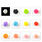 x20 Multi-color Acrylic Resin 3D Flower Beads Nail Art DIY Stickers Decoration B