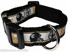 "PITTSBURGH STEELERS 1"" NFL PET DOG COLLAR FOOTBALL Med webbing for extra comfort"