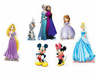 DISNEY LIFESIZE BIRTHDAY PARTY CARDBOARD CUTOUTS - FROZEN, MICKEY, MINNIE