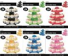 Meteor Assorted Colours Polka Dot 3 Tier Cardboard Party Cupcake Stand Tree