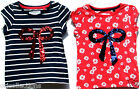 BRAND NEW**GIRLS**EX-CHAIN STORE***(N**T)***STITCHED-ON-SEQUINS BOW**T-SHIRTS