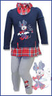 Disney Minnie Mouse top and leggings set with integrated red shirt, Ages 3-6