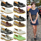 LADIES WOMENS LOAFERS FLAT WORK OFFICE SCHOOL DOLLY DECK BOAT VINTAGE SHOES SIZE