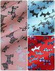 Printed Polycotton Fabric with Black & White Scottie Dogs - 3 Colours *Per Metre