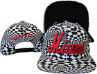 Racing Checker Embroidery City Name Snapnack Cap SC33 by Seventy Seven Head wear