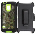 Free Blet Clip Defender Green Forest Camo Case Cover for Samsung Galaxy S5 I9600