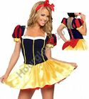 Snow White Adult Fancy Dress Short Fairy Tale Costume Sexy Fantasy Ladies Outfit
