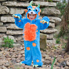 Boys Kids Childrens Scary Blue Monster Fancy Dress Book Week Halloween Costume