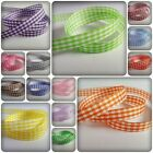 3m Gingham Check Ribbon - 10mm [Various Colours Available]