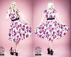 Hearts & Roses PLUS SIZE Pink Blossom Floral Vintage Rockabilly Swing Dress