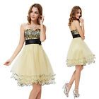 Ever Pretty Yellow Short Cocktail Ball Gowns Party Layered Dress 03974 SZ 06-18