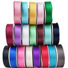 25 Metres Length 25mm Width   Reel Of Premium Double Faced Sided Satin Ribbon
