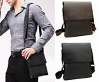 Mens Briefcase Shoulder Bags Messenger Cross Body Bags Black Brown Satchel Purse