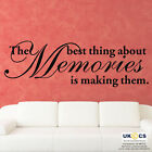 Best Thing Memories Making Saying Writting Wall Art Stickers Decal quote Vinyl 2