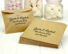 Personalised Brown Kraft Paper Wedding Favour Party Sweet Treat Bags - 6in x 6in