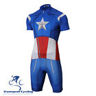 Outdoor Sports Bike Cycling Jersey & Shorts American Captain Style Team Clothes