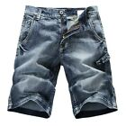 NEW MENS FOXJEANS BLUE DENIM SHORTS SIZE 30,32,34,36,38,40,42